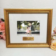 Personalised Photo Frame 4x6 Majestic Gold