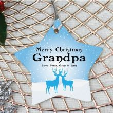 Personalised Grandpa Christmas Decoration - Star