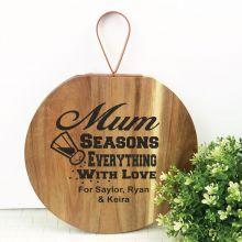 Mum Seasons Everything With Love Wood Hanger