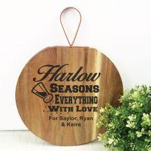 Seasons with Love Acacia Board