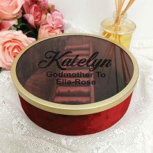 GodMother Jewellery Box Red Velvet Round