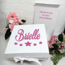 21st Birthday Keepsake Hamper Gift Box White