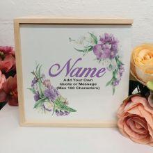 Birthday Personalised Keepsake Box - Vintage Floral
