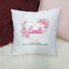 Personalised Cushion Cover - GeoHeart