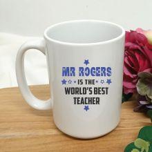 Worlds Best Teacher Personalised Coffee Mug 15oz