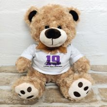 Personalised Birthday Number Teddy Bear - Malcolm