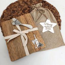 Nan Oval Bamboo Cheese Board -Grapes
