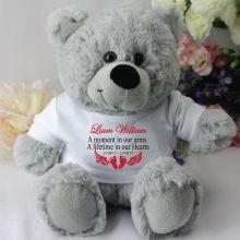 Personalised Baby Memorial Teddy Bear - Grey