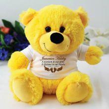 Personalised Baby Memorial Teddy Bear - Yellow
