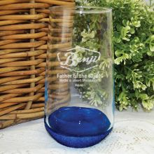 Father Of The Bride Engraved Personalised Glass Tumbler