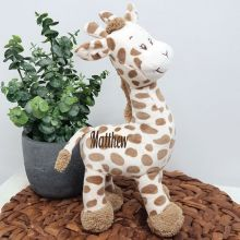 Personalised Safari Giraffe 30cm