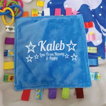 Personalised Baby Taggies Blanket - Night Sky