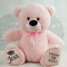 Graduation Personalised Teddy Bear 40cm Plush Light Pink