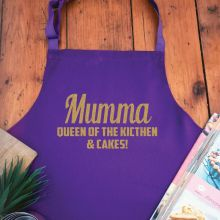 Mum Personalised  Apron with Pocket - Purple