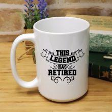 Personalised  Retirement Coffee Mug - Legend