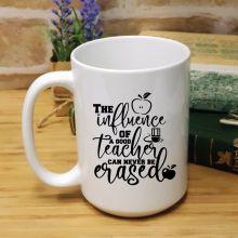 Personalised Teacher White Coffee Mug -Erased