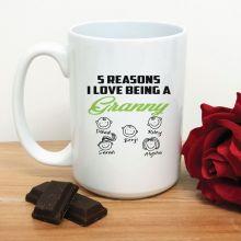 Reasons I Love being a Grandma Coffee Mug 15oz