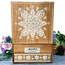 50th Birthday Wooden Jewellery Box Mandala