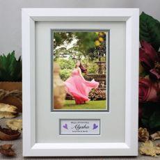 18th Birthday Photo Frame White / Silver Wood 4x6 Photo