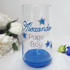 Page Boy Tumbler Glass 400ml Hand Painted Glittered