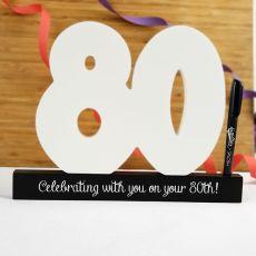 80th Birthday Signature Number Block