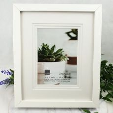 Verdure White  Timber 5x7 Photo Frame
