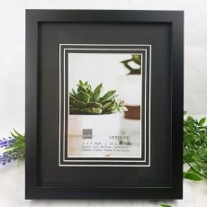Verdure Black Timber 5x7 Photo Frame