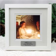 21st Birthday Instagram Photo Frame 5x5 White/Black Wood