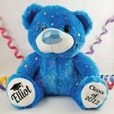 Graduation Personalised Teddy Bear 40cm Hollywood Blue