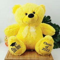 Graduation Personalised Teddy Bear 40cm Plush Yellow