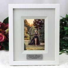 18th Birthday Personalised Photo Frame 4x6 White/Black Wood