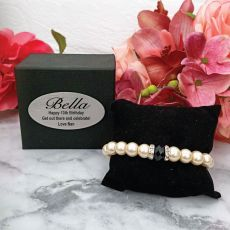 Pearl Bracelet with Personalised 13th Box
