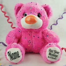 Personalised Hollywood Message Bear 40cm Plush - Pink