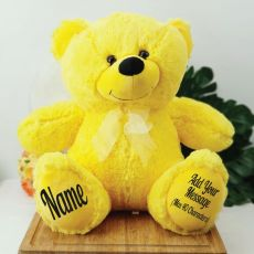 Personalised Teddy Message Bear 40cm Plush Yellow