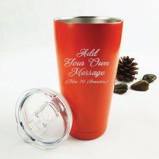 Custom Engraved Insulated Orange Travel Mug - Your Design