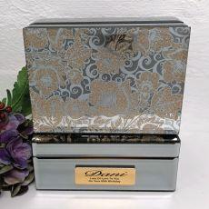 60th Birthday Jewellery Box Mirrored Golden Glitz