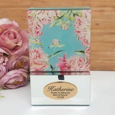 Maid of Honour Mirrored Trinket Box- Peony
