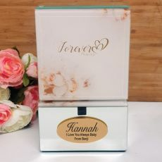 Forever Always Personalised Mirrored Trinket Box
