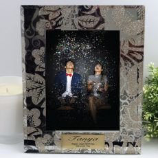 Personalised Frame 5x7 Photo Glass Golden Glitz
