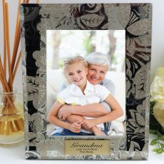 Personalised Grandma 5x7 Photo Frame Golden Glitz