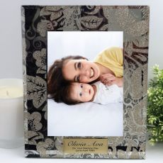 Naming Day Personalised Frame 5x7 Photo Glass Golden Glitz