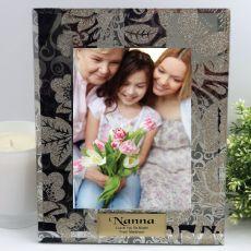 Personalised Nan 5x7 Photo Frame Golden Glitz