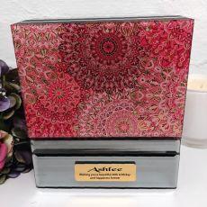 40th Birthday Mirrored Jewellery Box Pink Passion
