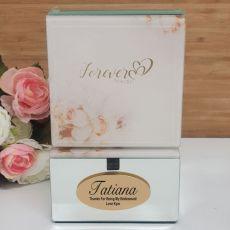 Forever Always Bridesmaid Mirrored Trinket Box