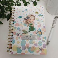 Personalised Birthday Journal & Pen - Mermaid