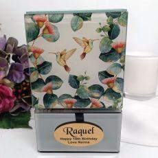 18th Birthday Glass Trinket Box - Gum Tree