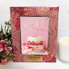 60th Birthday Photo Frame 5x7 Pink Passion