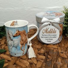 Mug with Personalised Gift Box - Horse