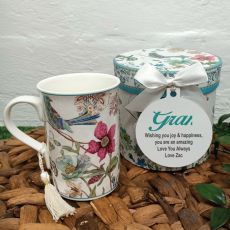 Grandma Mug with Personalised Gift Box - Blue Bird