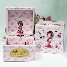 Personalised Dream Girl Music Box - Chic